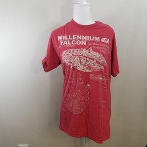 Star Wars Millennium Falcon tshirt, medium